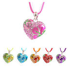 50% OFF New Fashion Heart Flower Pendant Crystal Silver Necklace Women Jewelry