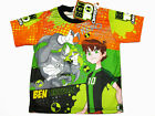 Ben 10 Omniverse Boy Kid Polyester T-Shirt #201-18 Orange Size 6 age 3-4