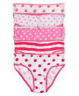 Girls Spot Stripe Pants Kids 5 Pack Cotton Knickers New Underwear Age 2-13 Years