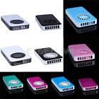 Mini Portable Hand-held Fan Cooler 3xAAA/USB Rechargeable Air Conditioner E0Xc