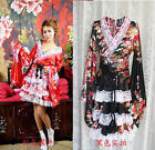Japanese Kimono Cosplay Lolita Anime Maid Uniform Outfit Costume Dress ★★37