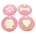 Personalised Engraved Pink Glitter Pet ID Tag-4 Designs Available-Free Engraving