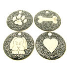 Personalised Engraved Black Glitter Pet Tag-4 Designs Available-Free Engraving