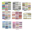 Washi Tape Bundle sets 10m rolls sets of 16 - 50 tapes free post in UK