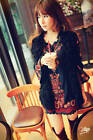 Women Peasant Ethnic Embroidered Floral Boho Top Tunic Mexican Gypsy Mini Dress