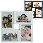 "Multi Collage Photo Picture Frame 4"" x 6"" Aperture Wall Black White - 4 Square"