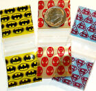 "Superhero Trio baggies 1 x 1"" Apple mini ziplock  bags 100 300 1000 3000"