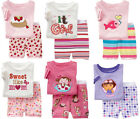 Boys Girls Sleepwear Short sleeve T-shirt + Shorts 2pc Pajama Set size 2T-7T /S3