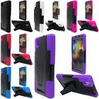 Heavy Duty Hybrid Dual Layer Kickstand Phone Cover Case for ZTE Zmax Z970