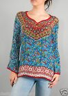 Tolani Monika Blouse Tunic Top in Turquoise 9211