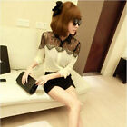 Fashion Korean Women's Formal Chiffon Lace Long Sleeve T-shirt Blouse Tops Shirt
