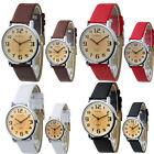 UK CH Couples Watch Artificial Leather Round Face Buckle Terse Beautiful Cheap