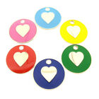 Personalised Engraved Love Heart Pet Disc Cat ID Tag-6 Colours-Free Engraving