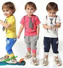 New Baby Boys Clothing T-Shirt Top+Pants Tie Clothes Set Kids Sport Suit Outfit