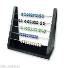 Rondelles Rack Beads Display Stand Solid Wood Beads Organizer Showcase Display
