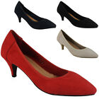 NEW WOMENS LADIES LOW KITTEN HEEL POINTY PARTY GOING OUT SHOES SANDALS SIZE 3-8