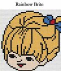 Pick 1 - Rainbow Brite Latch Hook Kit - Free S&H