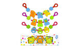 First Steps Baby Pram Rattle 6 Months + Colourful and Fun for Baby - 4 Designs