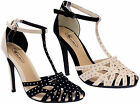 Ladies Stiletto High Heels Ankle Strap Peeptoe Womens Summer Sandals Shoes Size