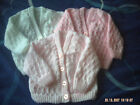 Hand Knitted Baby Cardigan Size 0-3 Months.