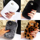 Luxury Winter Real Soft Rabbit Fur Hair Case Cover for Apple iPhone Moblie TM1