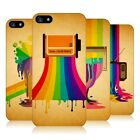 HEAD CASE DESIGNS COLOUR DRIPS HARD BACK CASE FOR APPLE iPHONE 5S