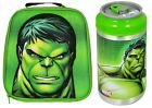 OFFICIAL MARVEL AVENGERS HULK FACE INSULATED LUNCH BAG CAN OR SET SCHOOL KIDS
