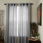 Set of 2 Olivia Sheer Curtain Panels 108 inch x 54 inch