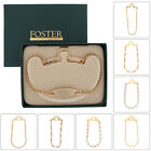 Foster USA Tie Chain Mens Engraveable Button Hole Choose Chain & Color
