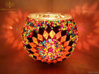 Variety Of Glass Turkish Moroccan Colourful Mosaic Candle Holder Tea Light Lamps
