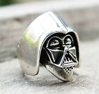 Stylish Punk Retro Vintage Silver Star Wars Darth Vader Helmet Ring