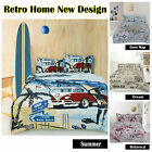 Retro Home Vintage Quilt Cover Set - SINGLE DOUBLE QUEEN KING