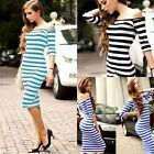 Women Lady's Off Shoulder Sexy Hip Package Dress Fitted Slim Stripe Party Dress