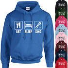 EAT, SLEEP, SING HOODIE ADULT/KIDS - PERSONALISED - TOP SINGER BAND MUSICIAN