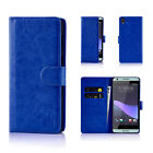 32nd PU Leather Book Wallet Case Cover HTC Phones + Screen Protector & Stylus
