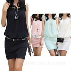 t shirt Dresses vest Bodycon beach Summer Vintage Ladies Dress Size 12 10 8 6