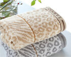 100% Cotton Thicken Hair-Drying Towel Bath Towel Leopard Print Pattern Towel