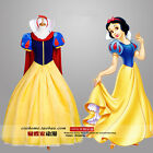2016 NEW High Quality Cosplay Dress Adult Snow White Costume & Cloak