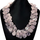 Natural Rose Quartz Statement Necklace & Sterling Silver Earrings Jewellery UK