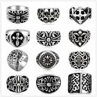 Complicated  Pattern Retro Vintage Style Unisex Stainless Steel  Band Ring