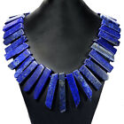 Natural Gemstone Statement Necklace Jewellery Lapis, Citrine, Amethyst, Prehnite