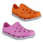 Womens Slip On Summer Holiday Beach Garden Clogs Shoes Sizes 3 to 7 - 2 Colours