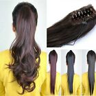 Clip In Ponytail Pony Tail Hair Extension Claw On Hair Piece Wavy Straight gd85