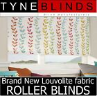 Louvolite MAISY ROLLER BLINDS - straight edge made to your exact size