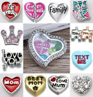 5PCS More Wholesale New Family Style Floating Charm For Locket necklace Bracelet