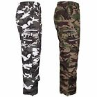 MENS ARMY CAMOUFLAGE CAMO CARGO COMBAT 3 IN 1 SHORTS 3/4 PANTS ZIP OFF TROUSERS
