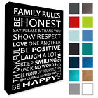 Family WALL Hanging Picture Family Rules Wall Canvas Print Wall Decor A3/A4