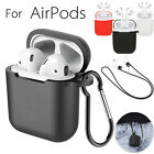 Внешний вид - AirPods Case Protective Silicone Skin Holder Bag Carabiner for Apple Air Pod