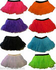 Adult Kids Fancy Dress Sequin Tutu Skirt 3 Layer Neon Florescent Costume 1980