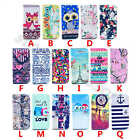 Pictorial Leather Rubber Flip Slim Card Stand Wallet Case Cover Fr Samsung Phone